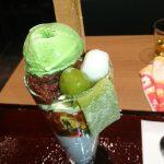 ペリエ千葉店の新店、錦一葉 和スイーツ&茶そばが頂けるカフェの期間限定八ッ橋パフェ
